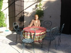 Céline Roumieu, la propriétaire de ma chambre d'hôte à Bédoui