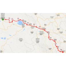Une portion de 10 km du parcours en Chine centrale
