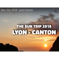 "Inscription de l'équipe à l'aventure ""The SunTrip 2018"" 1/100ème)"