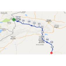 Une portion de 10 km du parcours entre Kazakhstan et Chine