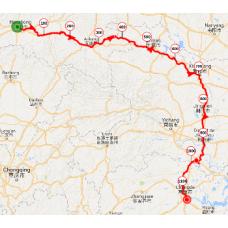 Une portion de 10 km du parcours dans la province de XIAN