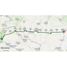 Une portion de 10 km du parcours entre Ukraine et Russie