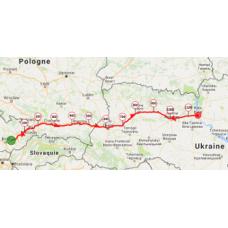 Une portion de 10 km du parcours de  Pologne en Ukraine