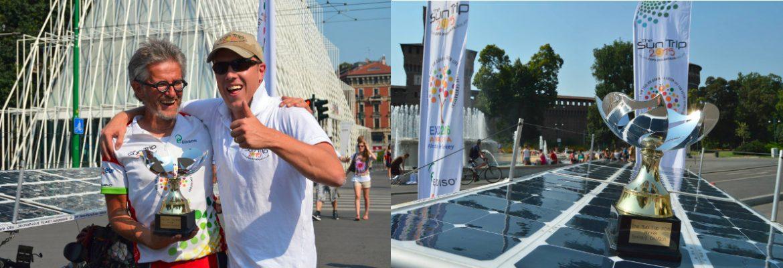Victoire le 2 juillet 2015 à Milan : 7000 km en 25 jours